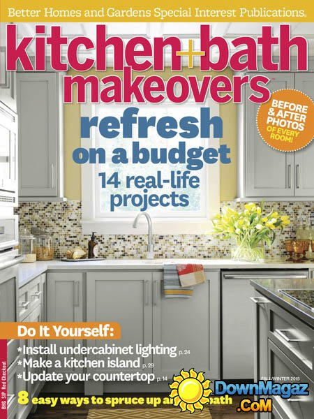 Our home is again in print, this time in BHG's Kitchen and Bath Makeovers!