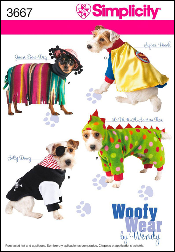 Woofy Wear pattern by Wendy - see more CUTE dogs in costumes at Living Vintage