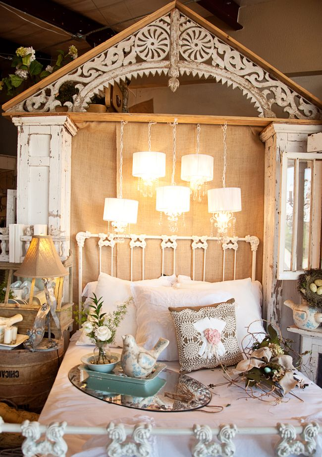 a beautiful bed and architectural pieces spotted at Laurie Anna's -- one of 8 picks for this week's Friday Favorites