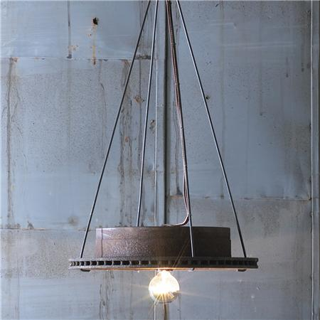 a cool industrial light fixture made with an old rotor -- one of 8 picks for this week's Friday Favorites
