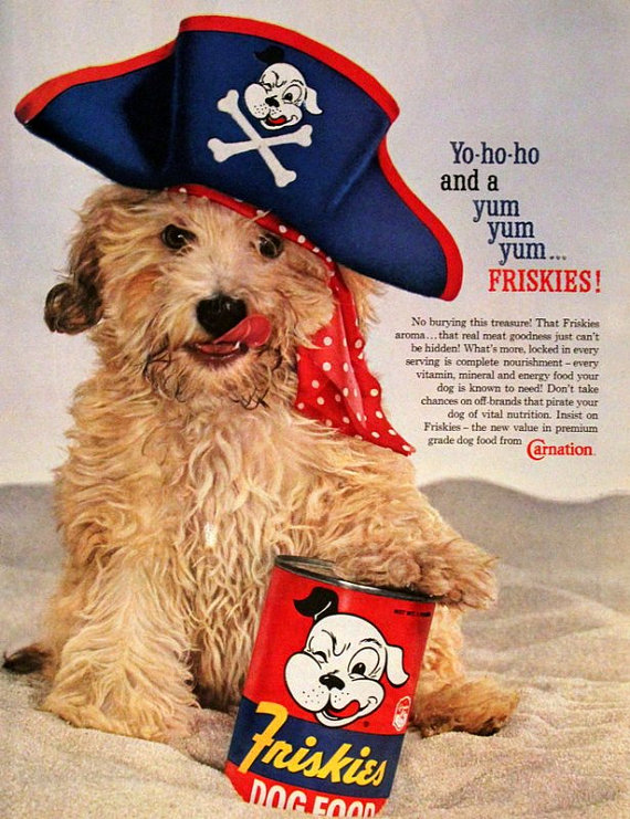 a hungry pirate - see more CUTE dogs in costumes at Living Vintage