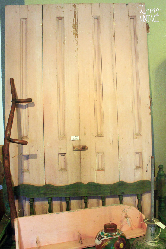 a pretty pink door pair could be transformed into a small closet or room divider