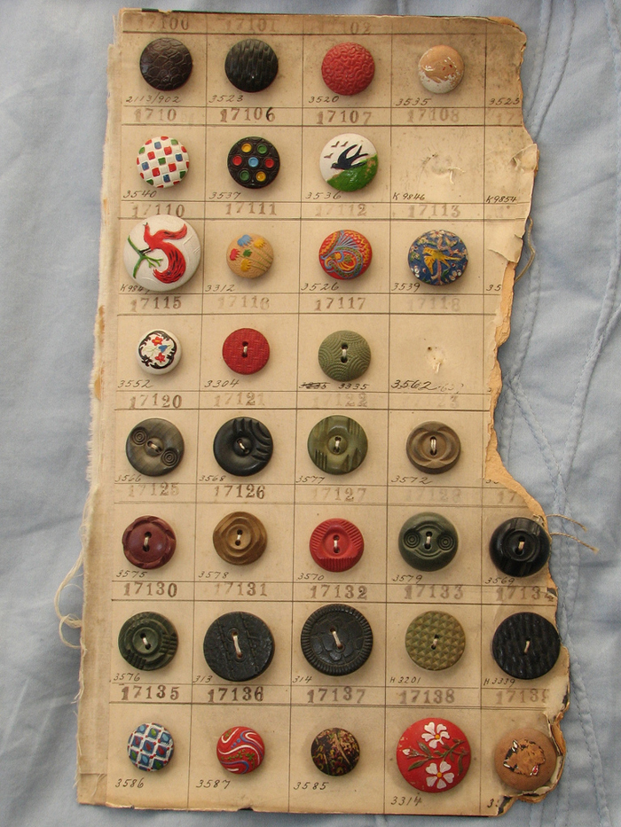 a pretty sampling of antique buttons -- one of 8 picks for this week's Friday Favorites