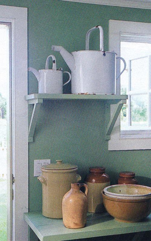 open shelving before it was cool - (See more photos of this One Cool House @ Living Vintage)