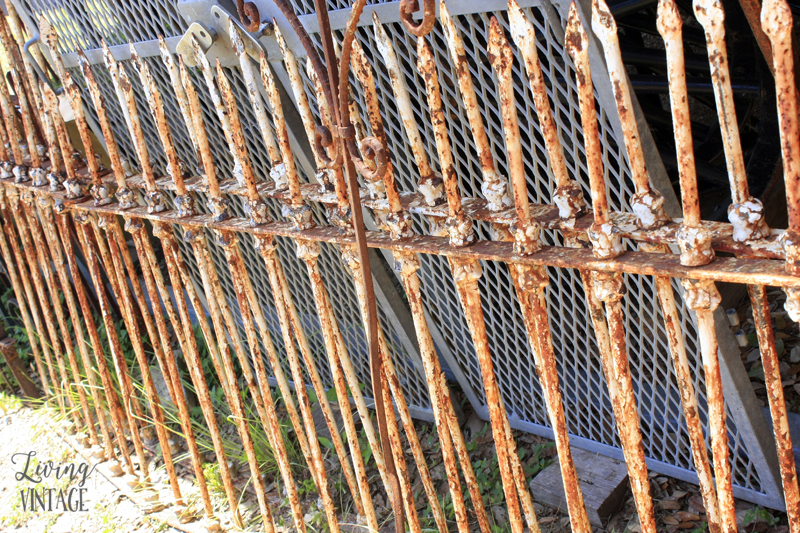 reclaimed iron fencing that could be transformed to a dog gate