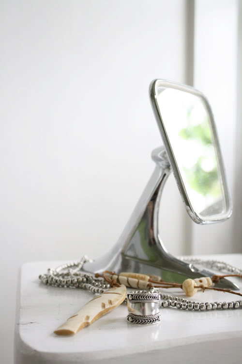 wonderful repurposing of a car mirror - one of 8 picks for this week's Friday Favorites