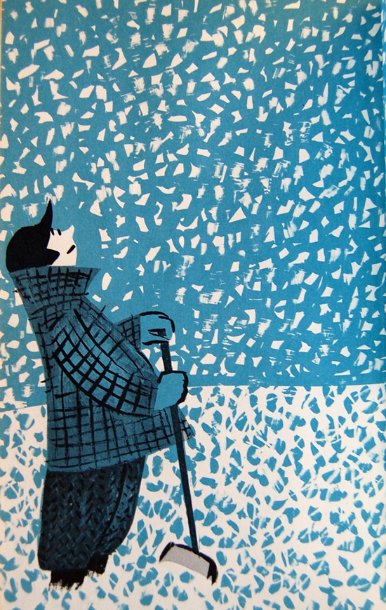 a simple but wonderful illustration of a person taking a moment to enjoy the snow - one of 8 picks for this week's Friday Favorites