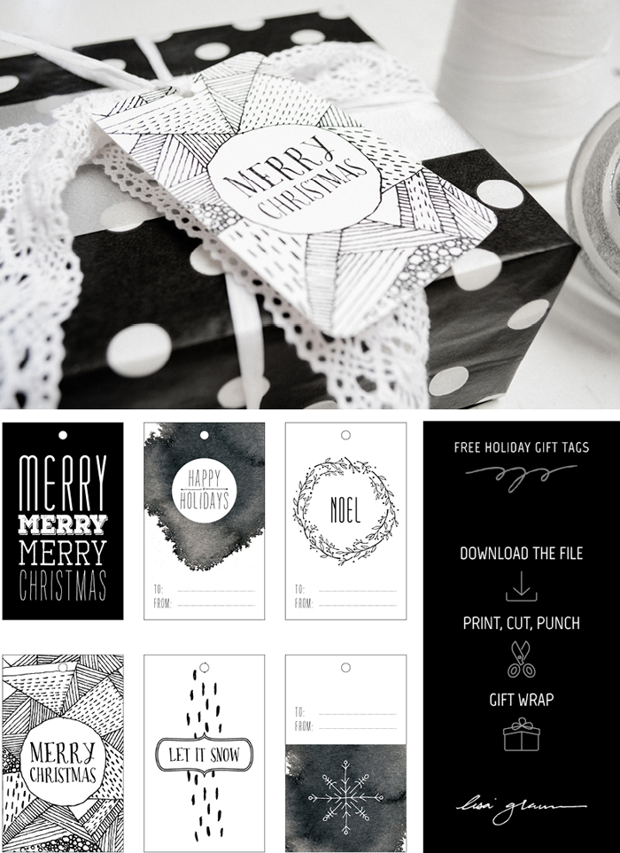 free (and pretty) downloadable holiday gift tags - one of 8 picks for this week's Friday Favorites