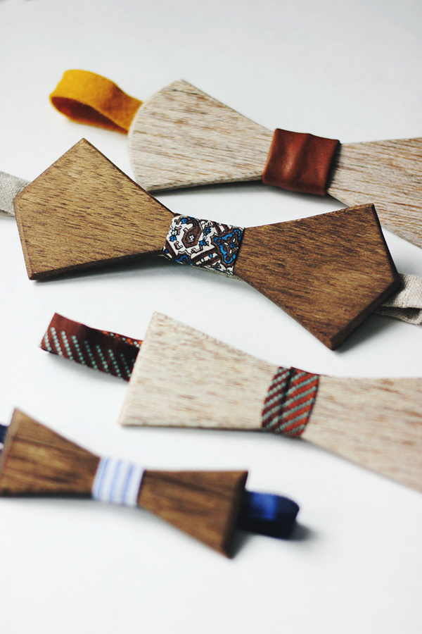 fun wooden ties (with a tutorial) - these would be pretty on a package, too! | one of 8 picks for this week's Friday Favorites