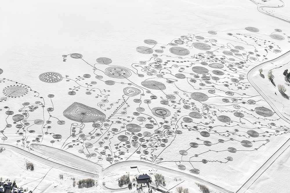 magnificent art in the snow -- one of 8 picks for this week's Friday Favorites