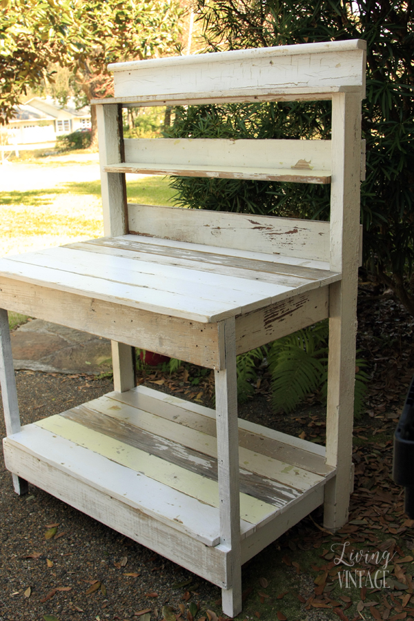 Reclaimed Trim Transformed Into A Potting Bench Living Vintage