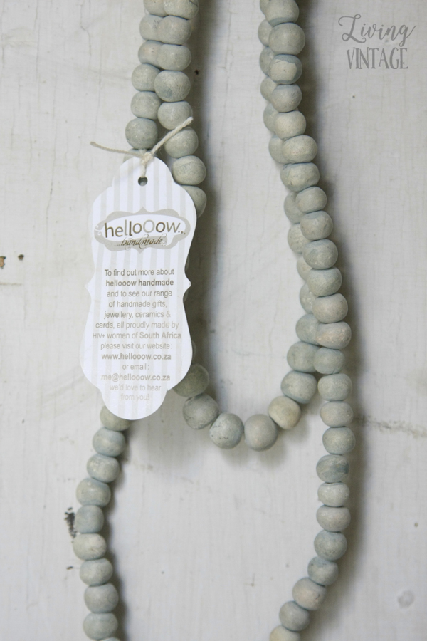 One of Hellooow Handmade's pretty handmade necklaces - see more and enter the giveaway @ Living Vintage