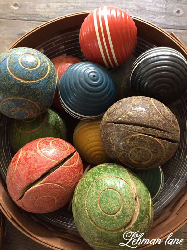 a colorful display of bocce balls - one of 8 picks for this week's Friday Favorites