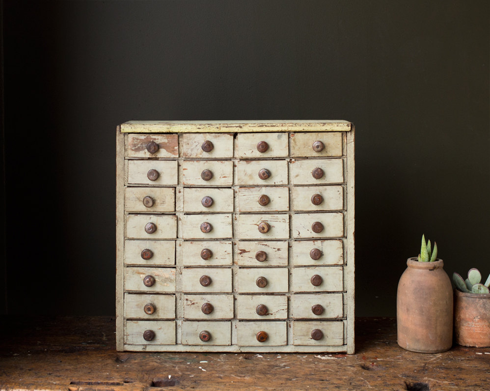 a wonderful primitive wooden pull drawer cabinet - one of 8 picks for this week's Friday Favorites