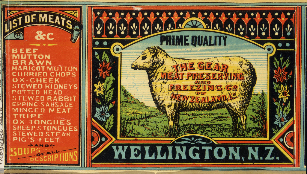 a neat old advertisement with an unappetizing list of meats - one of 8 picks for this week's Friday Favorites