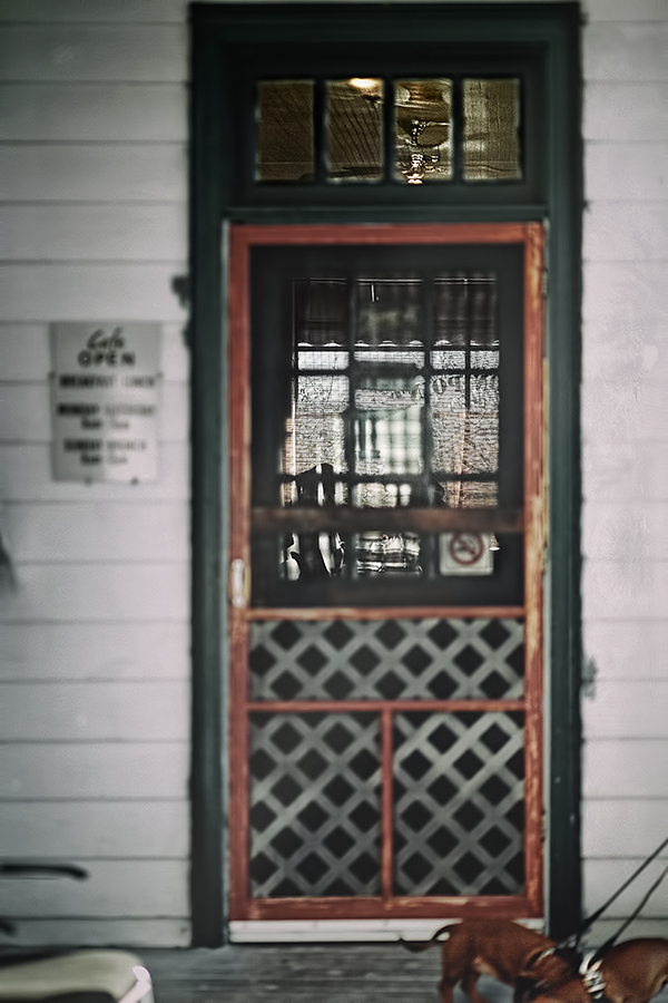 a fabulous image of an old screen door to an old-timey cafe - one of 8 picks for this week's Friday Favorites