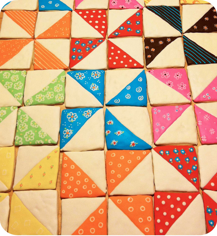 really cute quilt cookies - one of 8 picks for this week's Friday Favorites