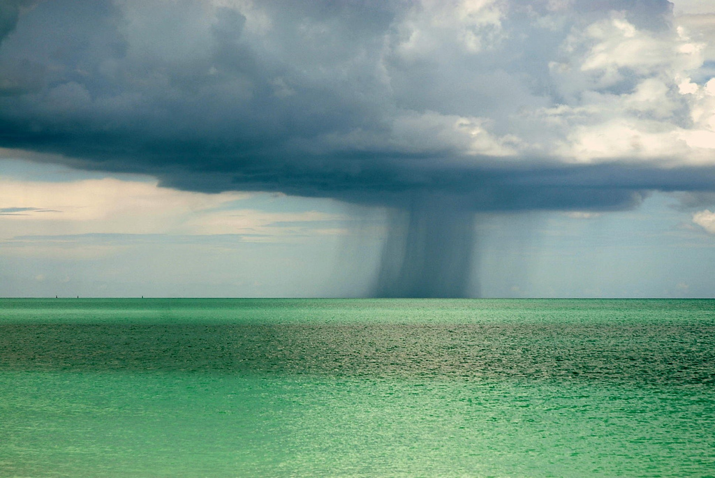 the pretty blues and greens of a storm out at sea - one of 8 picks for this week's Friday Favorites