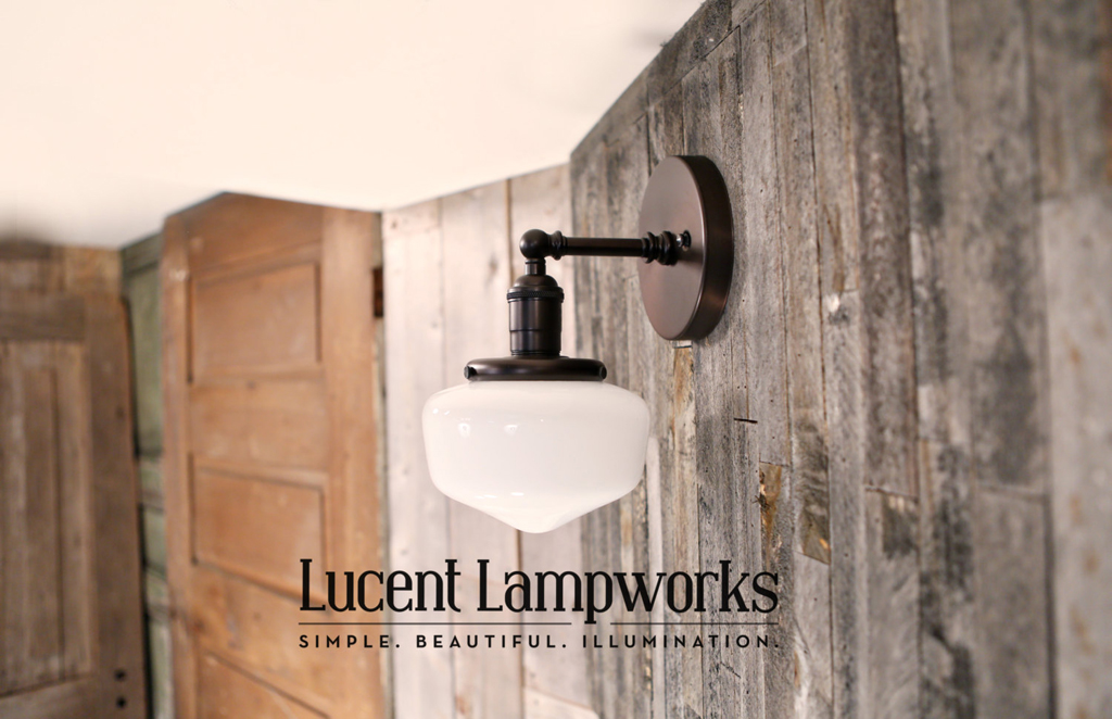 Lucent Lampworks' wonderful vintage-style light fixtures - one of 8 picks for this week's Friday Favorites