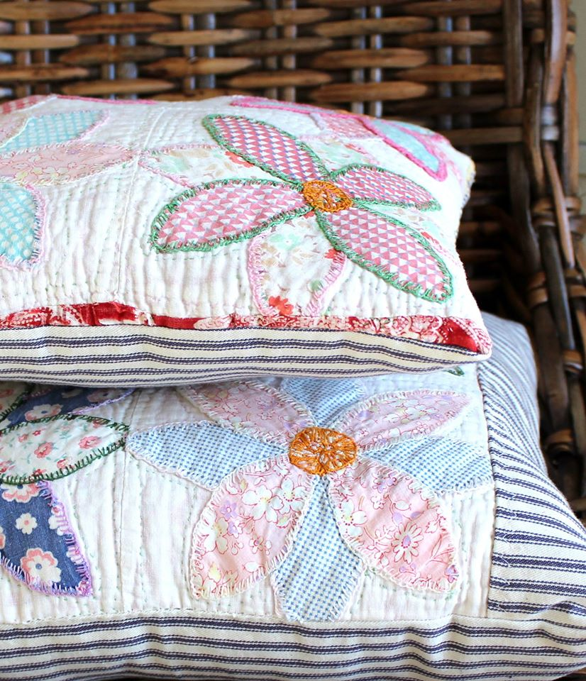 wonderful patchwork pillows - one of 8 picks for this week's Friday Favorites