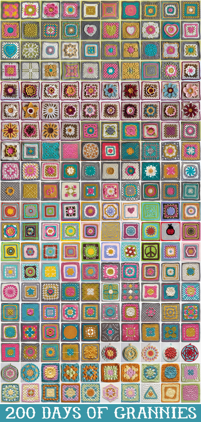 a fun project: 200 days of granny squares - 1 of 8 picks for this week's Friday Favorites