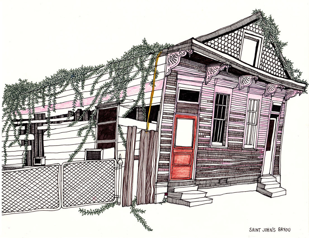 an accurate representation of some of the dilapidated houses in New Orleans - 1 of 8 picks for this week's Friday Favorites