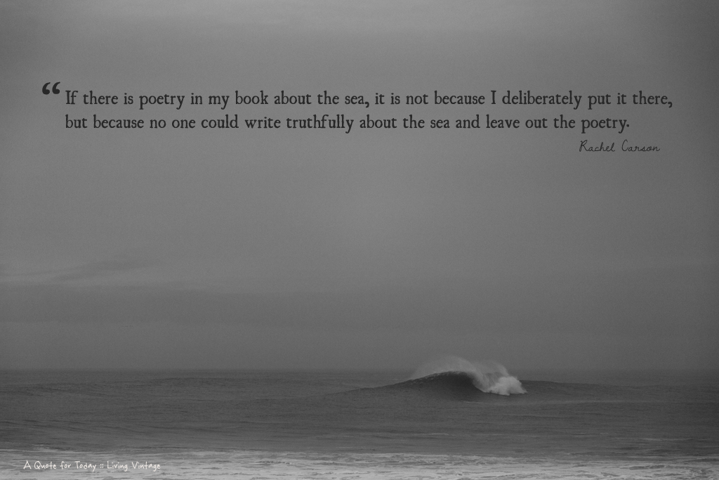 Write truthfully about the sea