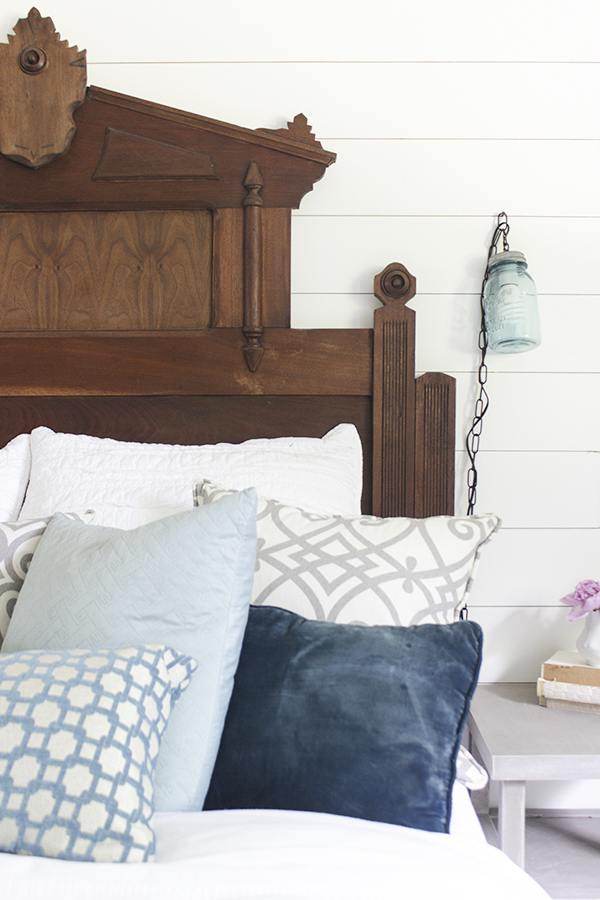 a very pretty antique headboard (and a fun light fixture) - one of 8 picks for this week's Friday Favorites