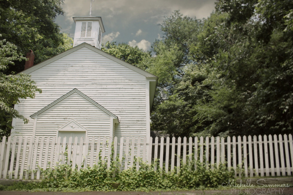 a charming church, complete with a white picket fence - 1 of 8 picks for this week's Friday Favorites