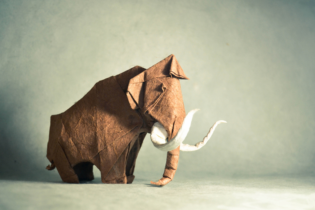 an adorable origami mammoth - 1 of 8 picks for this week's Friday Favorites