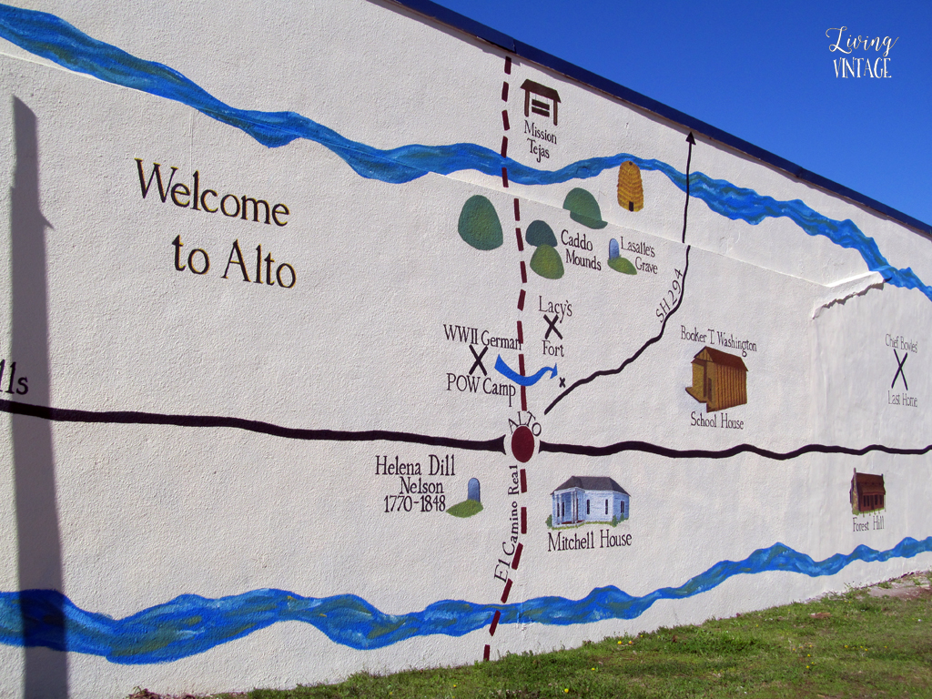our home is shown on the town mural