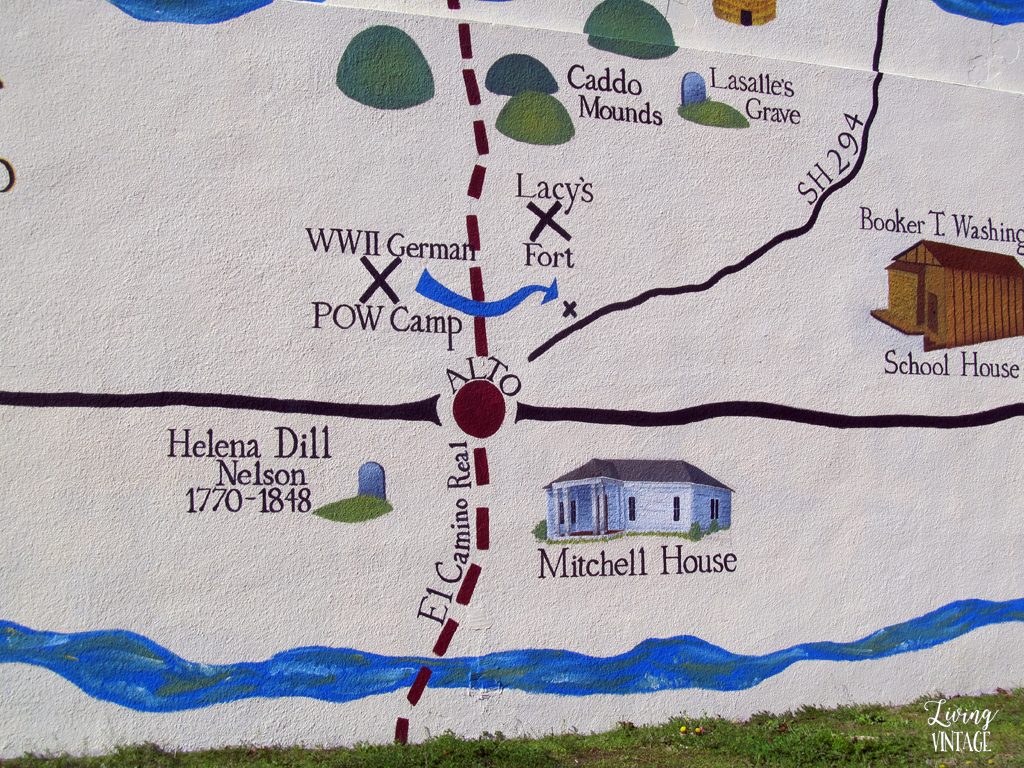 our home (the Mitchell house) is shown on the town mural