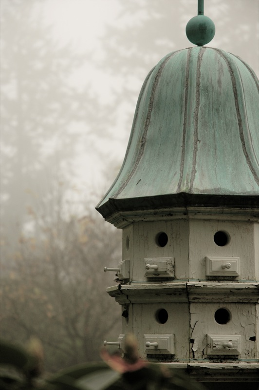 a wonderful birdhouse with a verdigris roof - 1 of 8 picks for this week's Friday Favorites