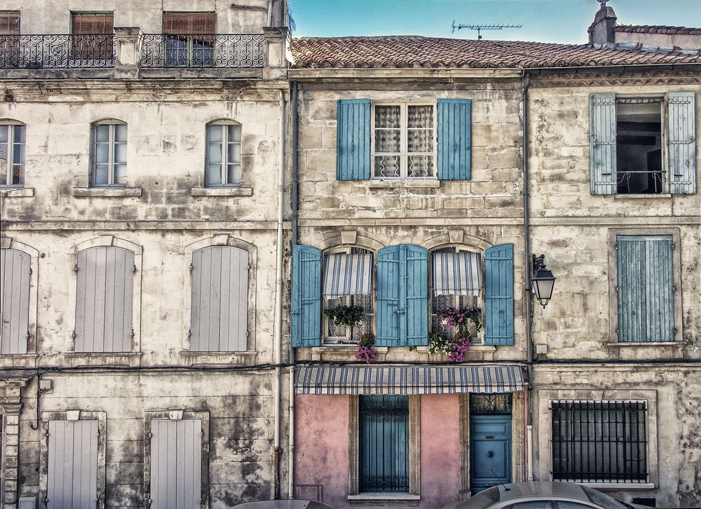 beautiful windows in France, trimmed in blue - 1 of 8 picks for this week's Friday Favorites