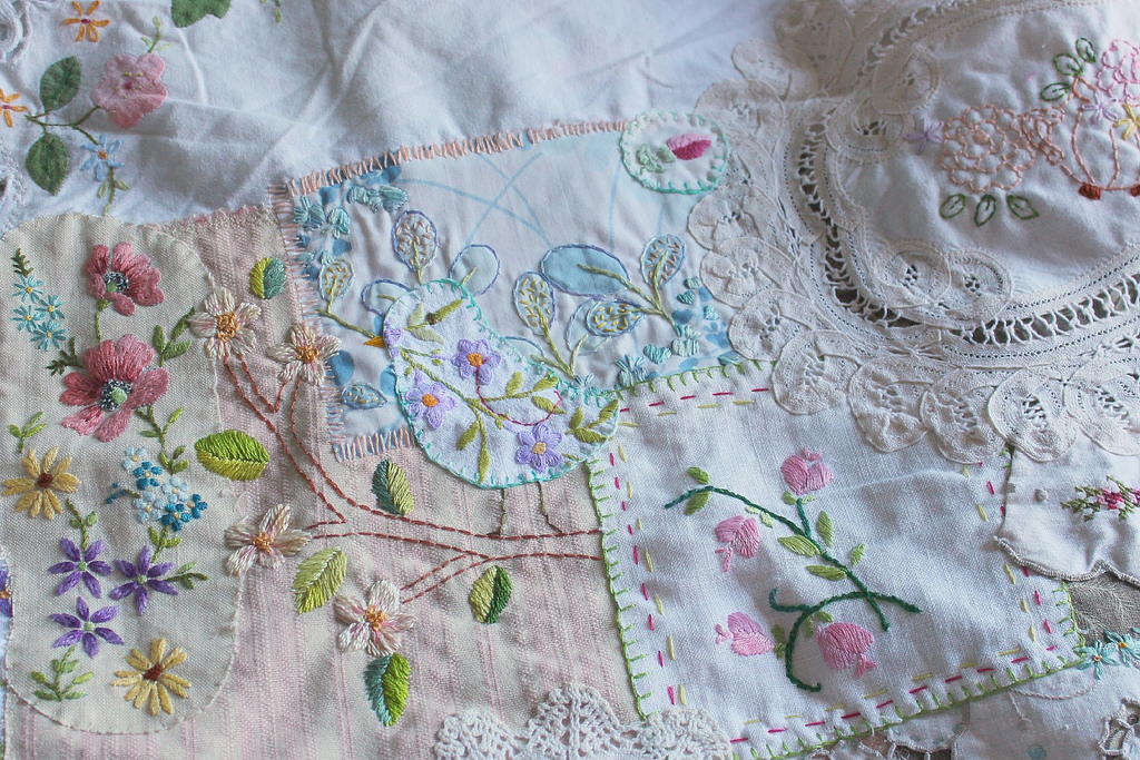 lovely patchwork and embroidery - 1 of 8 picks for this week's Friday Favorites