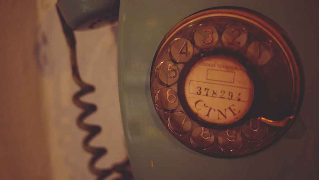 Call me weird, but I love the sound of a rotary dial phone.