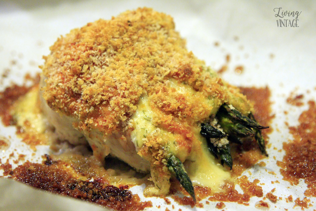 Catfish and Asparagus Roulade