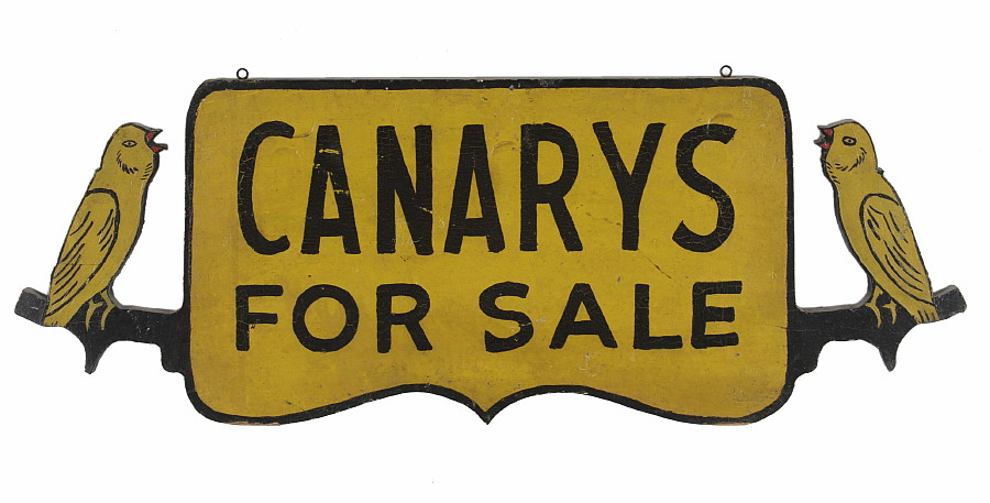 a neat old sign if you like birds and yellow (which I do) - 1 of 8 picks for this week's Friday Favorites
