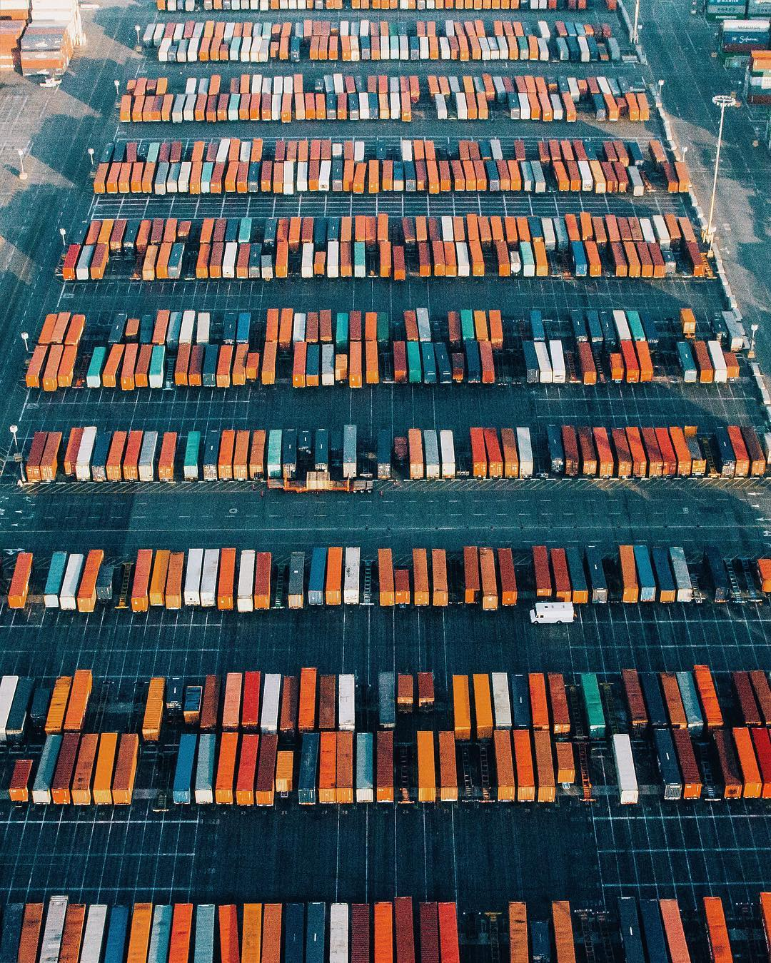 a unique view of a cargo yard - 1 of 8 picks for this week's Friday Favorites
