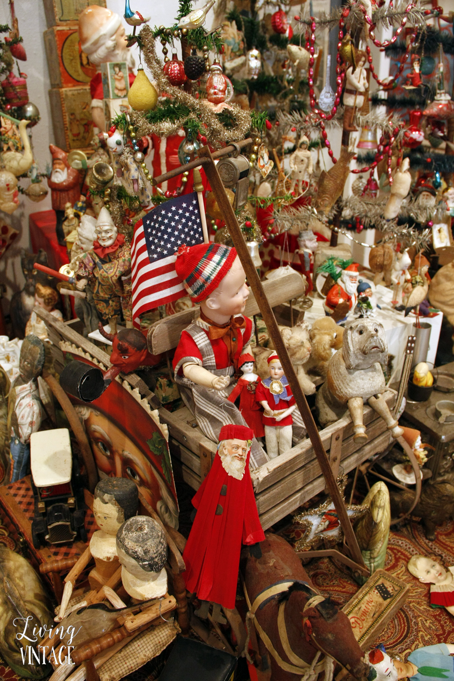 a pretty and elaborate display of an astounding Christmas collection