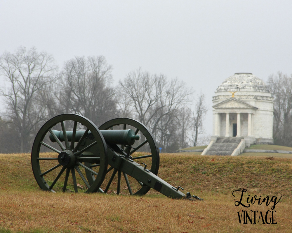 the Civil War battlefield in Vicksburg