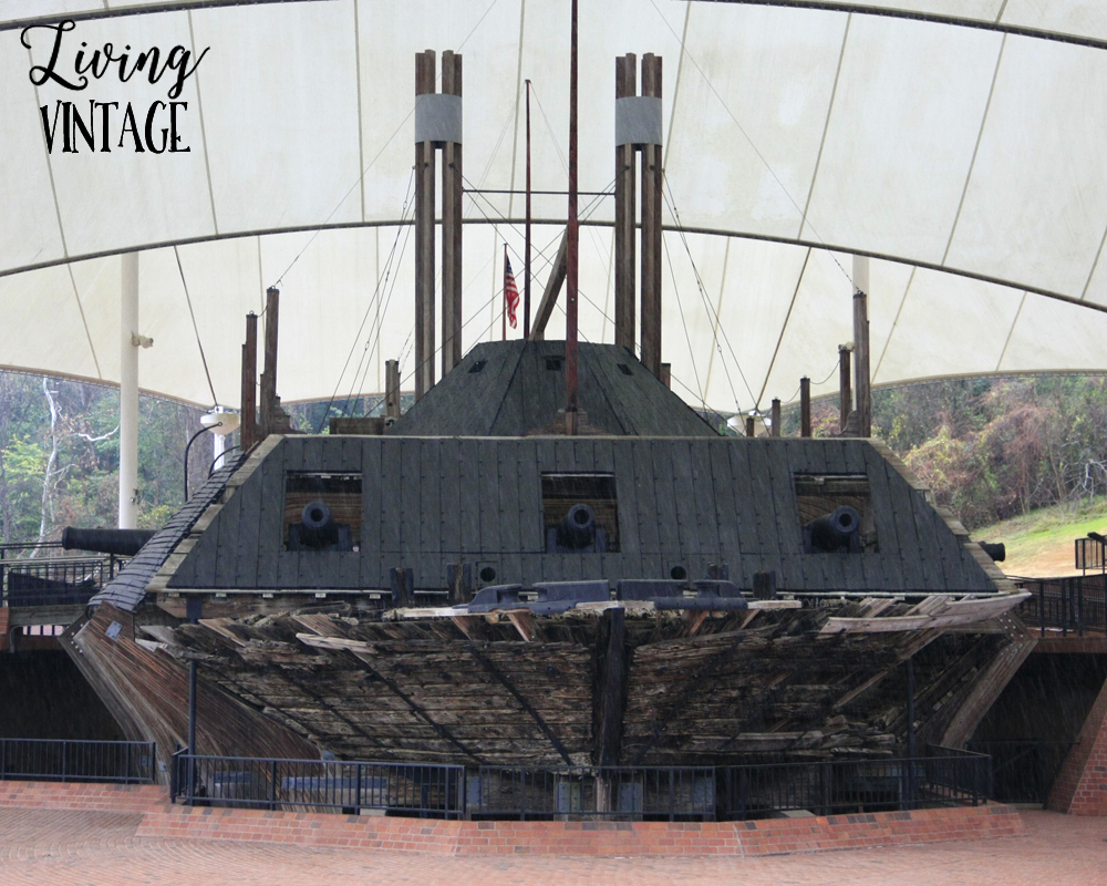 the USS Cairo at the national park in Vicksburg