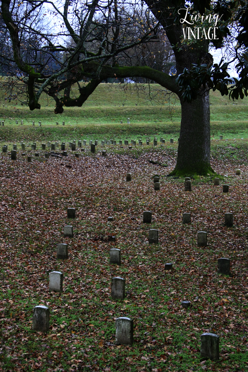 the graveyards at Vicksburg National Military Park