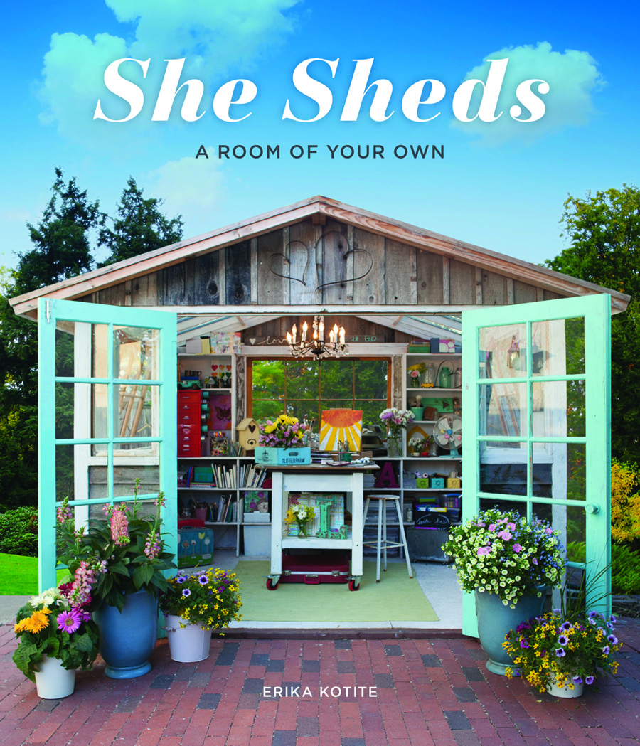 Enter to win one copy of the new She Sheds book.