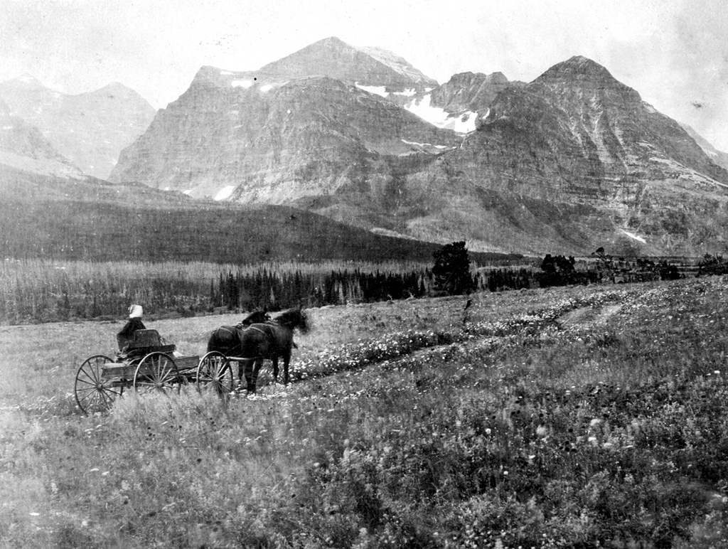 exploring Glacier National Park in 1907