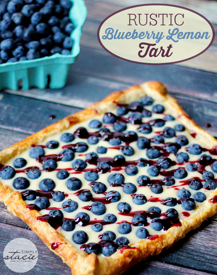 a tasty dessert and in patriotic colors, too