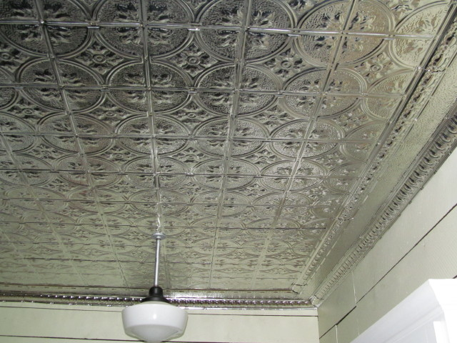 Before and After Our Kitchen Tin Ceiling Project Living Vintage