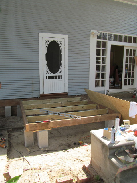 Building The Mudroom Foundation Anddeck