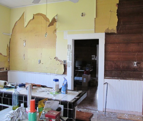 Removing Drywall From Old Kitchen Cropped