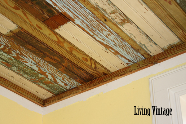 faux wood ceiling beams ideas - Our Beadboard Installation Project in Bryan Living Vintage